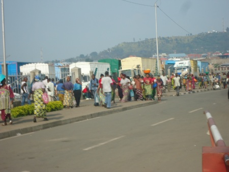 Frontière Gisenyi border