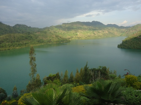 Le lac Kivu, vu de Kibute, samedi après-midi