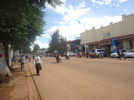 Le centre-ville de Butare, samedi après-midi