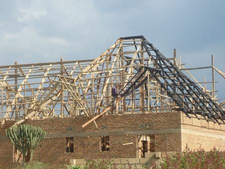 maison en construction, Nyagatare