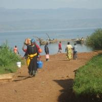 Les rives du lac Kivu...